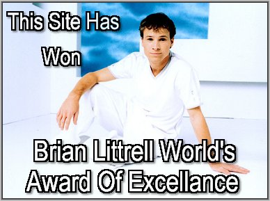 Brian Littrell World's Award Of Excellence